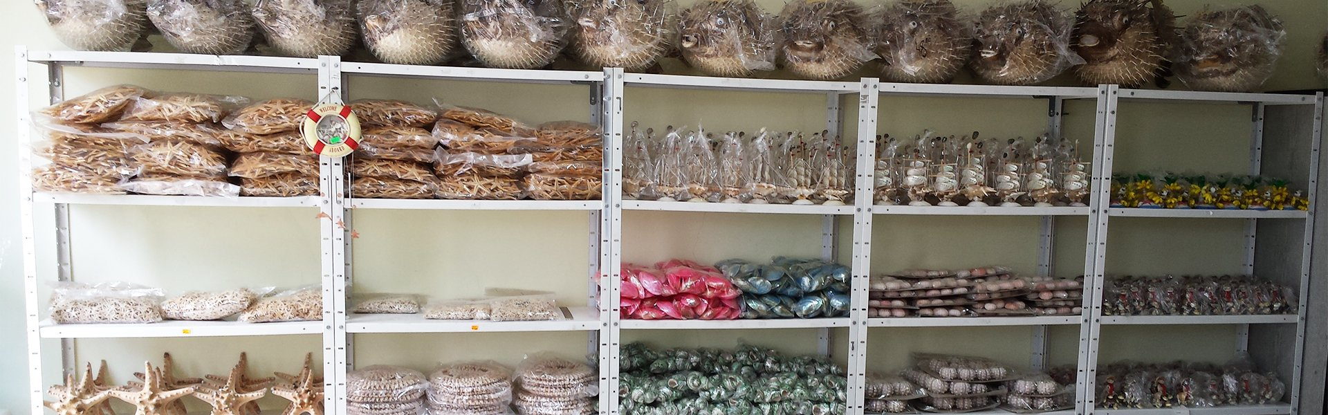 Seashells and maritime souvenirs trade